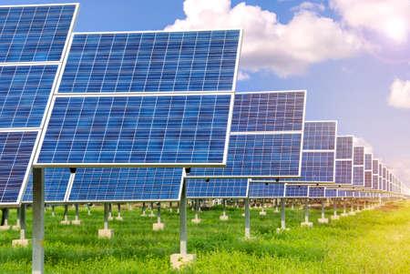 electricidad industrial: Planta de energ�a utilizando la energ�a solar renovable