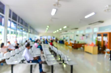 Arrière-plan flou: Des groupes de gens faire la queue en attente de médicaments à l'hôpital. Banque d'images - 51718136