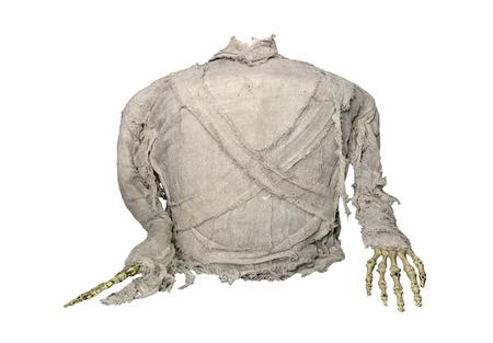 mummified: mummy horror for halloween isolate on white background.