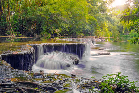 Waterfall in rain forest at national park.