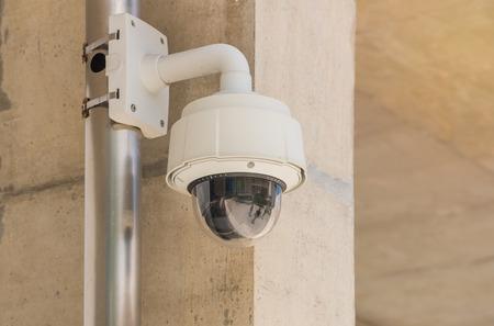 larceny: Security CCTV camera and urban video, electronic device. Stock Photo