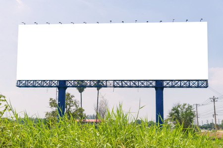 large Blank billboard ready for new advertisement. 版權商用圖片