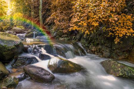 Waterfall in deep rain forest jungle (Krok E Dok Waterfall Saraburi) Thailand. Stock Photo