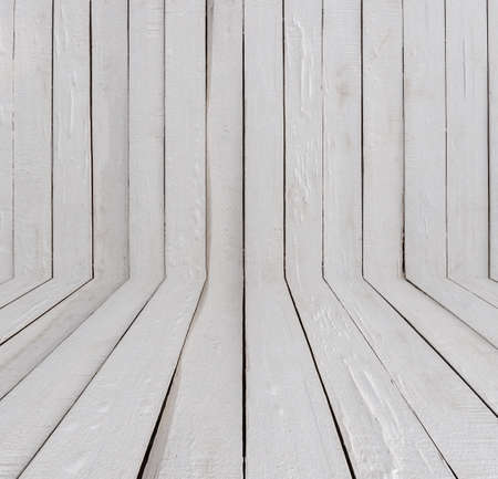 white of small wooden planks wall for background.