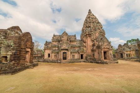 Stone castle in Prasat Hin Phanom rung Historical Park, Thailand.
