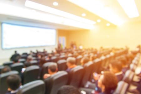 ビジネス会議、プレゼンテーション会場でのぼかし。 写真素材