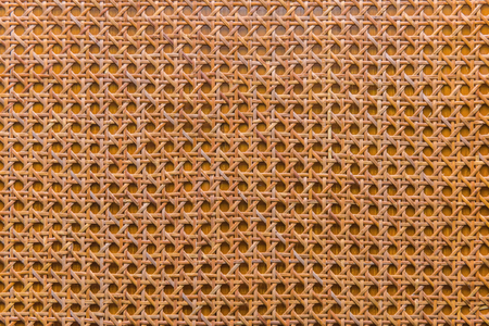 weave: handcraft of bamboo weave texture for background. Stock Photo