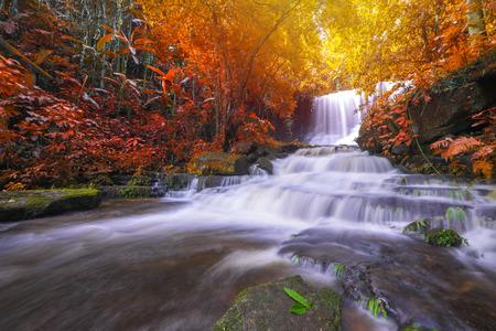 beautiful waterfall in rainforest at phu tub berk mountain phetchabun, Thailand. (Mun Dang waterfalls) Reklamní fotografie