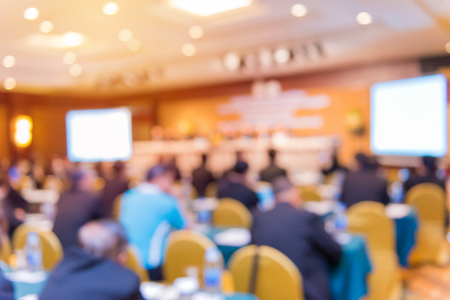 Blur of business Conference and Presentation in the conference hall. Stock Photo