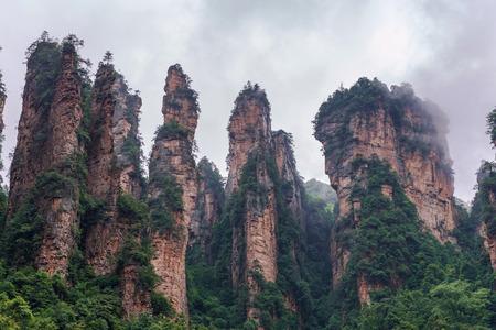 Zhangjiajie National forest park at Wulingyuan Hunan China.