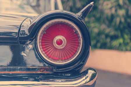 tail lamp of retro classic car vintage style. Stock Photo