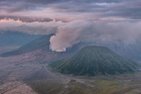 Mount Bromo volcano (Gunung Bromo) in Bromo Tengger Semeru National Park, East Java, Indonesia.