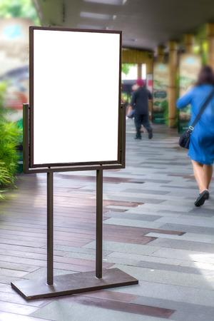 Blank Billboard on City Street for new advertisement.