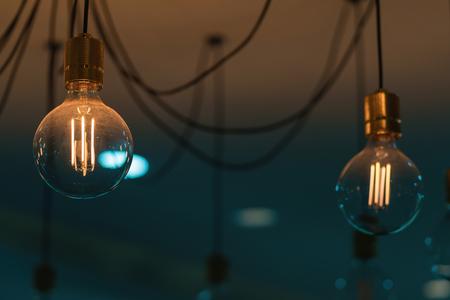 Beautiful Vintage Lighting decor for building interiors. Stock Photo