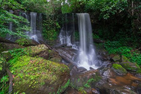Waterfall scene at Rom Klao Pharadon Waterfalls in rainforest  Thailand. Reklamní fotografie