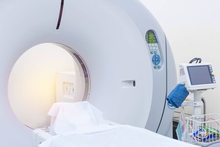 sophisticated of MRI Scanner medical equipments in hospital.