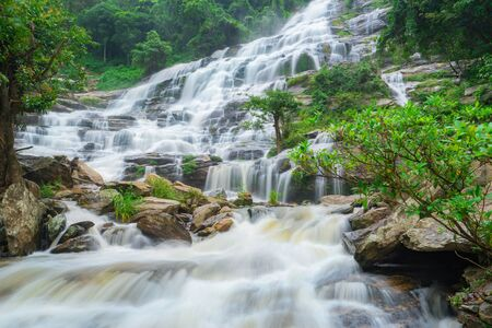 Mae ya waterfall is a big beautiful waterfalls in Chiang mai Thailand.
