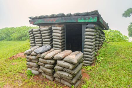 Air raid shelters or bomb shelters are structures for the protection of soldiers in the war.