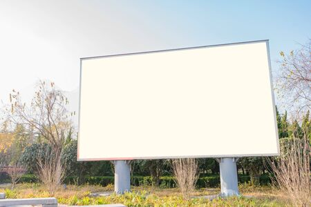 blank billboard in the beautiful landscape for new advertisement