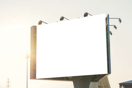 billboard blank on road in city for advertising background