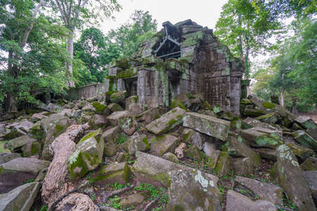 Taphom Castle or Prasat Ta Prohm temple at Angkor in siem reap Cambodia.