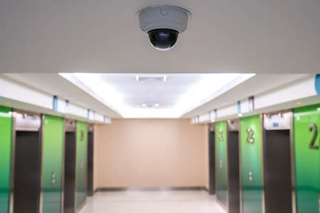 CCTV security camera inside the building for crime protect