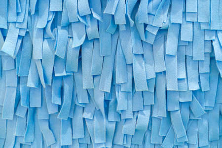 Scraps of blue fabric for background and texture