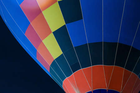 colorful Hot air balloon ready for take off in sky, Freedom concept.