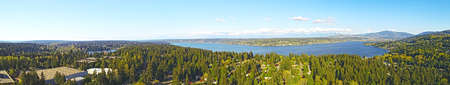 Lake Sammamish Bellevue Washington Panoramic View