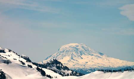 Mount Adams Washington Cascade Mountains View From Tatoosh Range