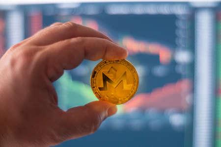 Monero Digital Crypto Currency Coin Blockchain Decetralized Open Source Financial Transaction Token