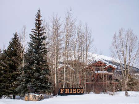 Frisco, Colorado USA Town Welcome Sign