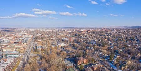 Boulder Colorado Panorama Stadtlandschaft