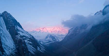 Cajon de Maipo Chile at Sunset Zdjęcie Seryjne
