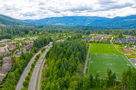 Snoqualmie Ridge Washington Aerial View 版權商用圖片 - 133299227