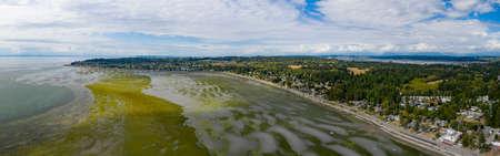 Birch Bay Blaine Washington Aerial Summer Overview Beach Communities in Pacific Northwest Washington State
