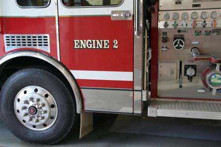 first responder: Engine #2, Fire truck, detail  Montpelier Vermont
