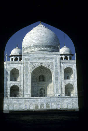 Taj Mahal, gateway  Agra, India