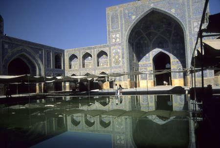 Reflection pool, Emam Mosque  Isfahan, Iran Stock Photo