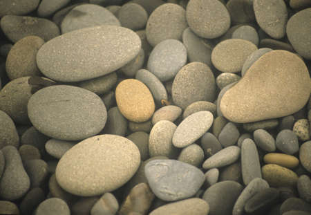 Beach rocks, rounded with wear,  Olympic National Park, Washington Banco de Imagens
