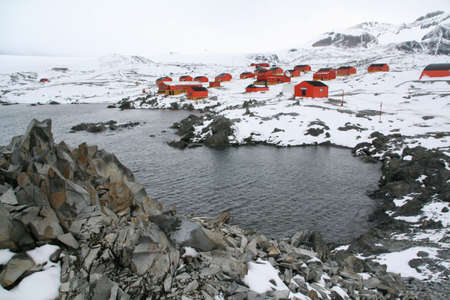 Polar research station and colony,Argentine Base Esperanza,Antarctica