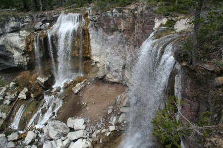 Paulina Falls, blurred, moving water,  Newberry National Volcanic Monument, Central Oregon