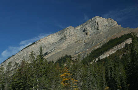 canmore: Long sloping ridge, West Wind Pass Canadian Rockies,Kananaskis, Canmore, Banff, Alberta, Canada