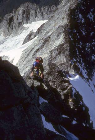 Climber, West Ridge, Forbidden Peak North Cascades National Park, Washington