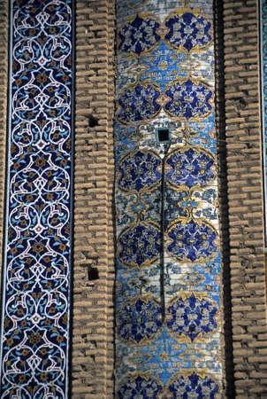 Floral mosaic detail, Madrese-e Khan (founded 1615)  Shiraz,  Iran