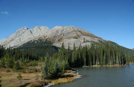 スプレー湖 Burstall 渡す、カナダのロッキー山脈、カナナスキス、キャンモア、バンフ、アルバータ州、カナダ