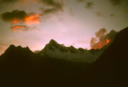 cordillera: Sunset over the Andes,  Cordillera Blanca, Peru