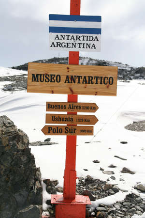 Sign to the South Pole, Argentine Base Esperanza,  Antarctica