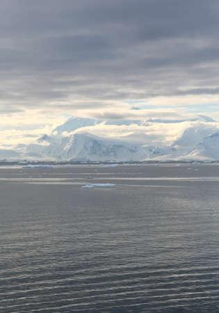 Clouds & mountains at twilight,  Neko Harbor, Andvord Bay, Antarctica