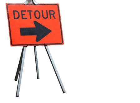detour: Detour sign for construction, isolated,   Montpelier Vermont   Stock Photo